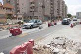La primera de las rotondas de Ronda Ciudad de La Unión estará acabada en los próximos días