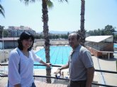 El PSOE propone crear más zonas de sombra en la piscina Murcia Parque