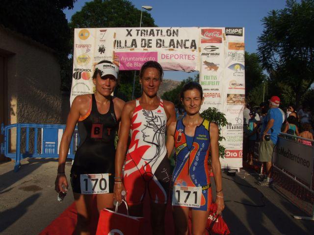 Ciento ochenta triatletas consolidan el triatlón Villa de Blanca como una de las grandes pruebas de la Región - 1, Foto 1