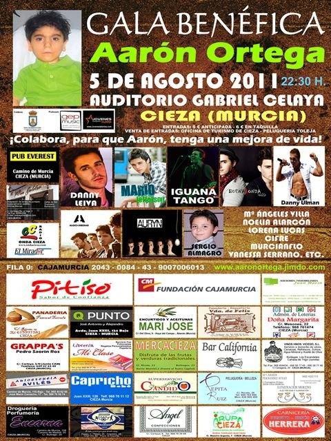 Iguana Tango, Buena Onda, Danny Leiva, Mario Jefferson entre otros en la gala benéficaa favor de Aarón Ortega en Cieza - 1, Foto 1