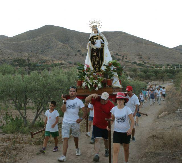 La pedanía lumbrerense de Góñar comenzó sus fiestas patronales en honor a la Virgen del Carmen con la tradicional romería - 1, Foto 1