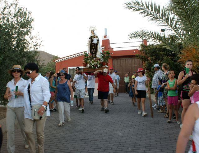 La pedanía lumbrerense de Góñar comenzó sus fiestas patronales en honor a la Virgen del Carmen con la tradicional romería - 2, Foto 2