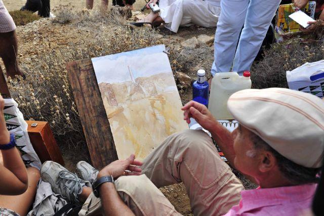 Exitosa clase magistral de pintura impartida por Pedro Cano en La Unión - 4, Foto 4
