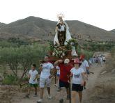 La pedanía lumbrerense de Góñar comenzó sus fiestas patronales en honor a la Virgen del Carmen con la tradicional romería