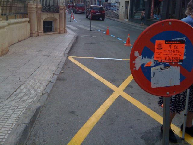 They use the month of August to repaint the parking areas of the ORA and residents