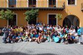 Los voluntarios que le corresponden a las parroquias de Alcantarilla y que asisten a la Jornada Mundial de la Juventud, inician sus actividades