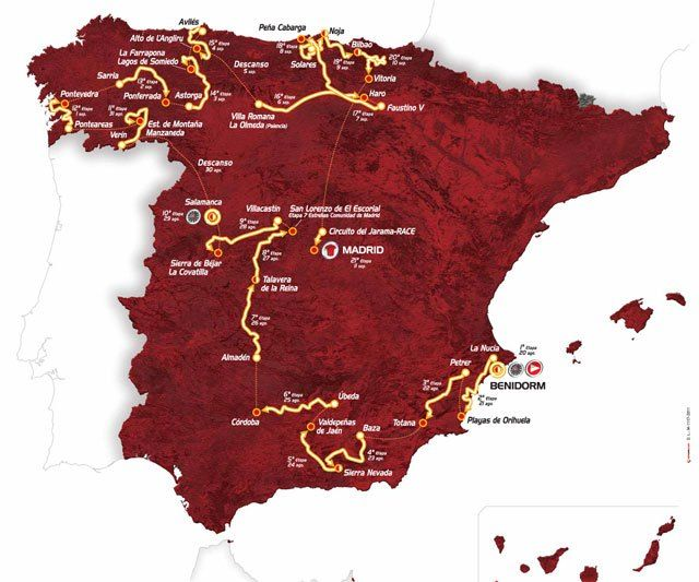 Totana will host on August 22 by the end of the third stage of the Tour of Spain 2011