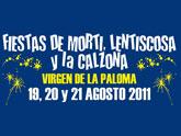 Las fiestas de La Paloma (Mortí, Lentiscosa y La Calzona) se celebran el próximo fin de semana
