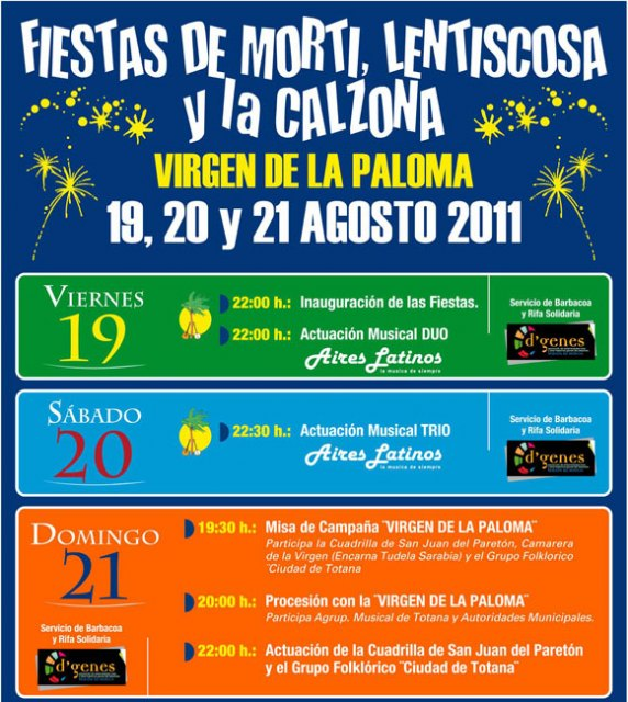 """The festival of """"La Paloma"""" (Morti, Lentiscosa and The Breeches) are held on the weekend"""