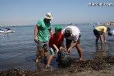 Totaneros participaron en la II Limpieza de playas, rocas y fondos marinos en La Manga
