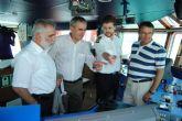 El delegado del Gobierno visita el nuevo remolcador de Salvamento Marítimo 'Sar Mesana', atracado en el Puerto de Cartagena