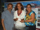 María del Loreto Lloret, ganadora del sorteo celebrado en la Feria de la Huerta y el Mar de Los Alcázares