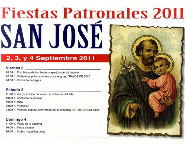 """The district of """"San José"""" celebrates this weekend fiestas in honor of its patron"""