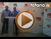 Rueda de prensa IU-verdes Totana sobre empleo