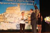Patty Llaguno recibe en Cehegin el premio a la Mejor Deportista de la Región