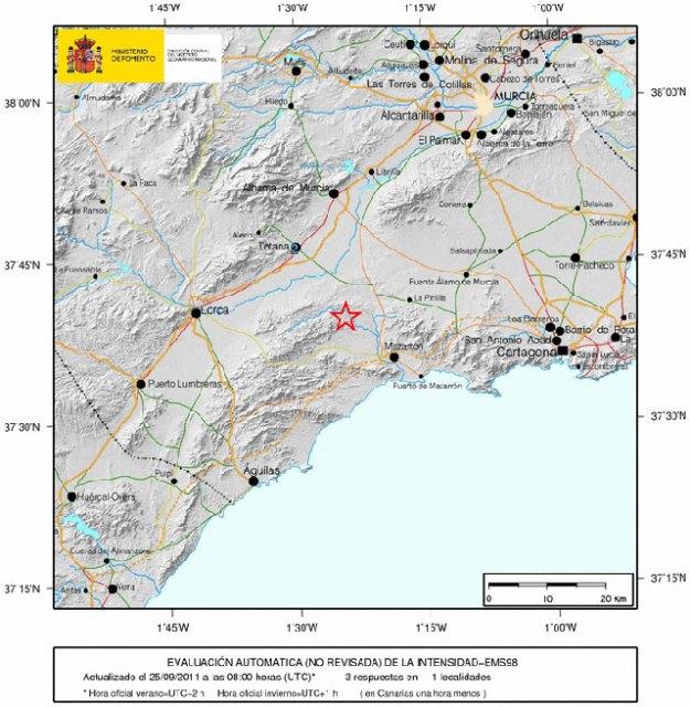 Un terremoto de 3.1 de magnitud ha tenido lugar el Mazarrón - 1, Foto 1