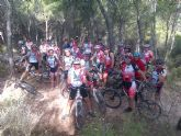 Un total de 25 ciclistas participaron en la ruta en bicicleta de montaña por Sierra Espuña