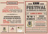 El pr�ximo domingo la Agrupaci�n Musical de Alhama celebrar� su XXVII Festival de Bandas