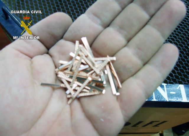La Guardia Civil esclarece un trascendente robo de hilo de cobre en Las Torres de Cotillas - 1, Foto 1
