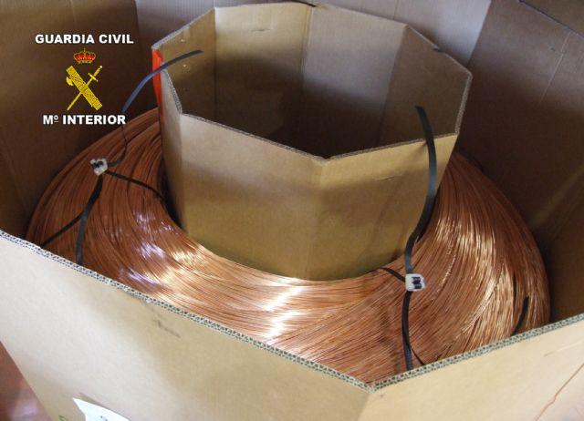 La Guardia Civil esclarece un trascendente robo de hilo de cobre en Las Torres de Cotillas - 3, Foto 3