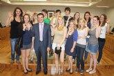 Bienvenida a los alumnos alemanes de intercambio que se quedarán durante las Fiestas Patronales de Torre-Pacheco