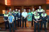 El Alcalde de Molina de Segura recibe a varios policías locales que han conseguido medalla en las Olimpiadas de Policías y Bomberos y en el Campeonato de España MTB de Policías Locales