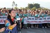 Los trabajadores de El Ciruelo han realizado un paro simb�lico de apoyo a la empresa