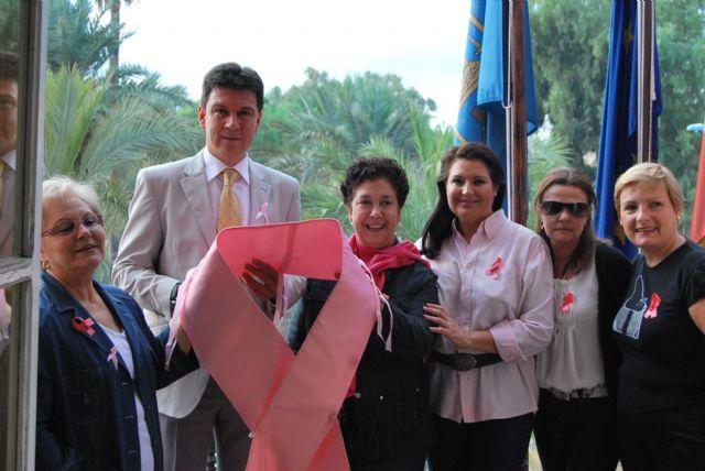 El Ayuntamiento se une a la campaña contra el cáncer de mama y también se viste de rosa, Foto 2
