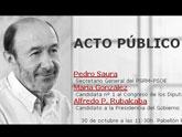 El PSOE de Totana fletará autobuses para el acto público de Rubalcaba en Murcia