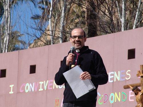 D. Juan Tudela en la I Convivencia de Jóvenes Cofrades, celebrada en Archena., Foto 1