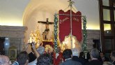 La Hermandad del Rocio de Murcia celebra la misa en honor al Cristo de la Sangre en el 600 aniversario en su año Jubilar