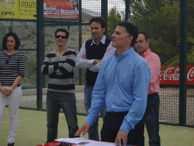 """The V Open Paddle """"Uncle Pencho"""" congregates at the Tennis Club Totana the best players in the regional landscape in this sport"""