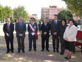 Autoridades municipales asisten al acto de jura de bandera en el marco de las II Jornadas de Caza, Turismo y Gastronomía