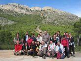 Una veintena de senderistas participan en una interesante ruta programada por el Parque Regional de Sierra Espuña