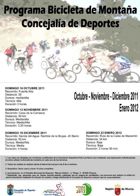 Contin�a abierto el plazo de inscripci�n para participar en la ruta de bicicleta de montaña Casa de la Carrasca, Foto 1