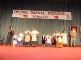 Cuatro grupos folklóricos participaron en el II Festival Folklórico Infantil 'Ciudad de Totana'