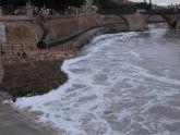 IU-Verdes pide a ayuntamiento y CHS que determinen el origen de espuma en el río Segura