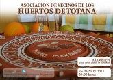 El próximo viernes 25 de Noviembre se va a celebrar la Asamblea de la Asociacion de vecinos de los huertos