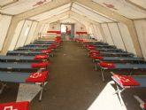 Cruz Roja simula la llegada de medio centenar de inmigrantes en patera a San Pedro del Pinatar
