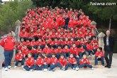Autoridades municipales asisten a la tradicional ofrenda floral de la Escuela Municipal de Fútbol de Totana