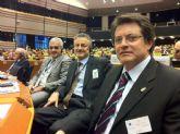 Los Alcaldes de Lorca, Mostar y L'Aquila presentan en Bruselas el proyecto de recuperación de recuperación de estas tres ciudades, con el que optan a fondos europeos