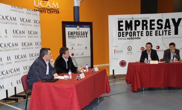 Baloncesto&Universidad: Mesa redonda sobre Empresa y Deporte de Élite en la UCAM - 1, Foto 1
