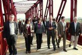 El puente metálico del antiguo ferrocarril sobre el Río Segura ha sido acondicionado como parte del recorrido de la Vía Verde del Noroeste en su tramo por Molina de Segura