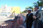 Gonz�lez Tovar visita las obras de reconstrucci�n del Cuartel de la Guardia Civil de Lorca