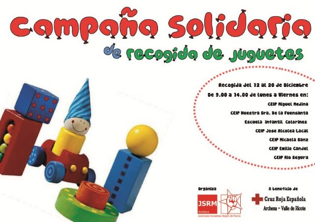 Juventudes Socialistas de Archena pone en marcha una campaña solidaria de recogida de juguetes - 1, Foto 1