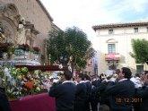La Banda de cornetas y tambores del Ilustre Cabildo Superior de Procesiones de Totana participó en la ofrenda floral a Santa Eulalia