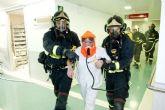 El hospital de Santa Lucía se pone a prueba de incendios