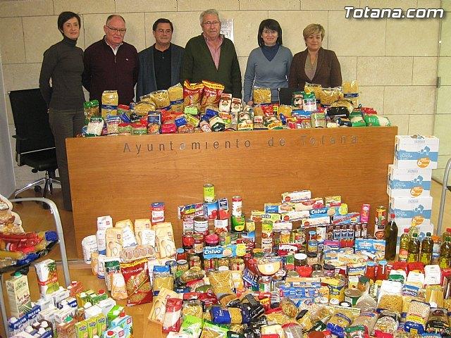 Cáritas y Adipsai reciben más de 700 kilos de comida y 200 litros de leche, aceite y zumos, Foto 1
