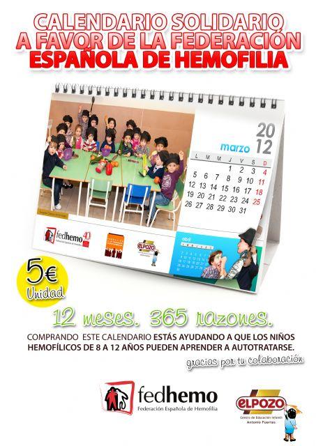 Los niñós y educadores de la guardería Antonio Fuertes protagonizan un calendario solidario a favor de la Federación Española de Hemofilia, Foto 1