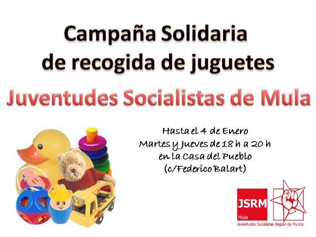 Juventudes Socialistas de Mula organiza una Campaña Solidaria de recogida de juguetes - 1, Foto 1